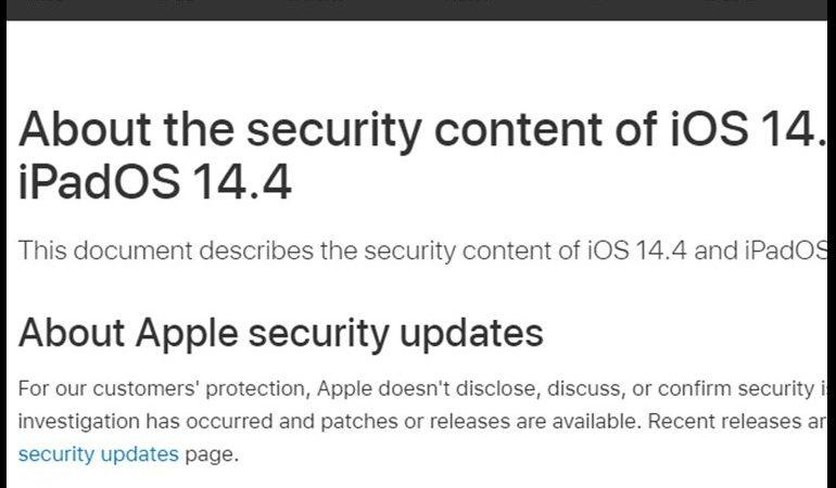 iPhone, iPad and iPod Security Alert